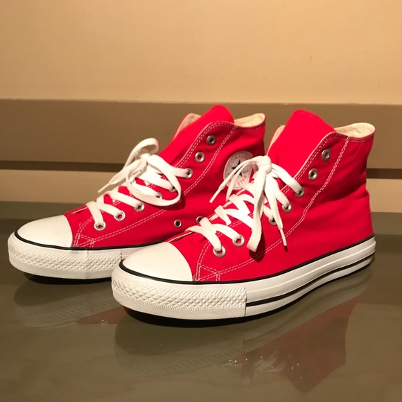 9f158ad7c7a2 Converse Shoes | Hp Chuck Taylor Red High Tops | Poshmark
